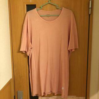 スタンプドエルエー(Stampd' LA)の込み STAMPD / ダメージ Tee Sサイズ ピンク(Tシャツ/カットソー(半袖/袖なし))