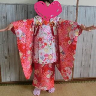 NiHO様専用   753  七五三 女の子 3才 着物セット(和服/着物)
