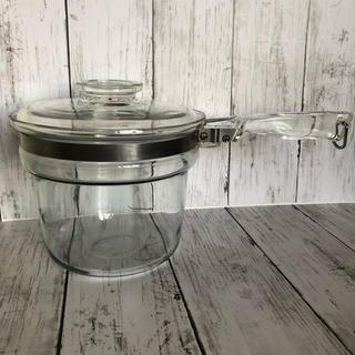 オールド パイレックス  片手 鍋   ナベ    ガラス 耐熱 鍋  直火用