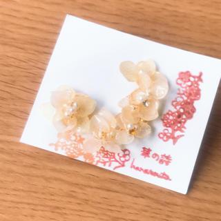 オフホワイトカラー紫陽花イヤカフset(イヤリング)