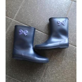 ハッカキッズ(hakka kids)のハッカキッズ レインブーツ リボン(長靴/レインシューズ)