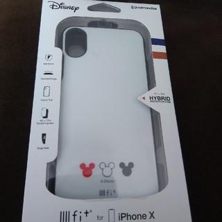 ディズニー(Disney)のiPhoneXケース Disney 白 イーフィット(iPhoneケース)