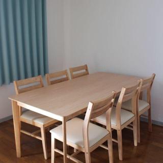6人掛けダイニングテーブル(7点セット)(ダイニングテーブル)