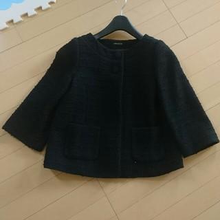 ドゥファミリー(DO!FAMILY)のドゥファミリ!ノーカラー黒ジャケットコート(ノーカラージャケット)