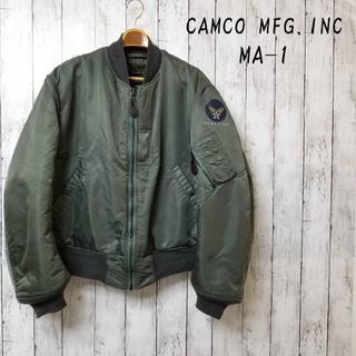 """カムコ(camco)の【希少】CAMCO Bタイプ """"58年復刻"""" MA-1 Lサイズ エアフォースロ(フライトジャケット)"""