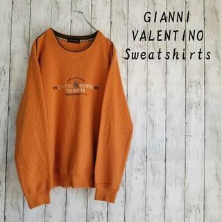 GIANNI VALENTINO - 【一点物】GIANNI VALENTINO スウェットトレーナー Lサイズ 刺繍