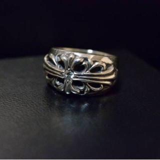 クロムハーツ(Chrome Hearts)のクロムハーツ フローラルクロスリング 純正ダイヤ(リング(指輪))