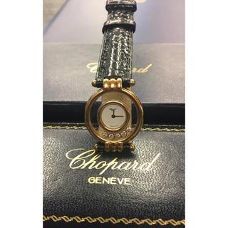 ショパール(Chopard)の数回100万品★ショパール★K18YG ハッピーダイヤモンド 箱/保証書レディ(腕時計)