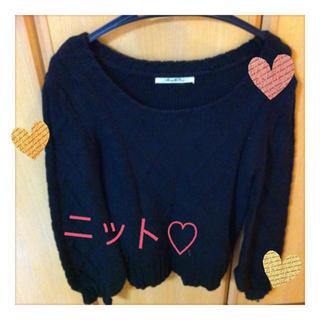 通販の黒セーター♡(ニット/セーター)