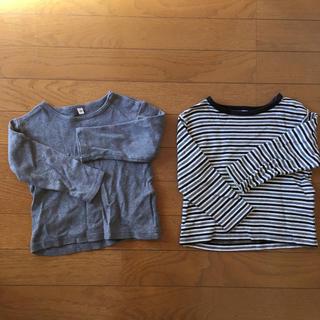 ムジルシリョウヒン(MUJI (無印良品))の無印良品 長袖 カットソー 90 2枚セット(Tシャツ/カットソー)