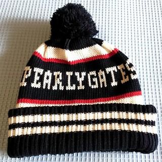 パーリーゲイツ(PEARLY GATES)のパーリーゲイツのロゴ ニット ビーニー(ニット帽/ビーニー)