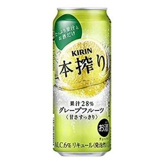 キリン(キリン)の送料無料キリン 本搾りチューハイ グレープフルーツ 缶 500ml×24本  (リキュール/果実酒)