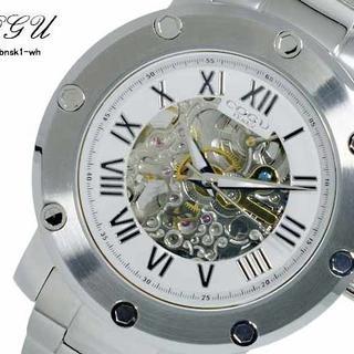コグ(COGU)のコグ COGU フルスケルトン 自動巻 メンズ 腕時計 BNSK1-WH(腕時計(アナログ))