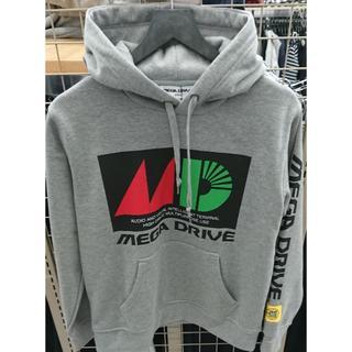 セガ(SEGA)のSEGA公式 MEGA DRIVE 灰色 メガドライブ パーカー 2Lサイズ(パーカー)