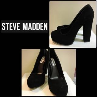 スティーブマデン(Steve Madden)のスティーブマデン スエードパンプス ブラック(ハイヒール/パンプス)