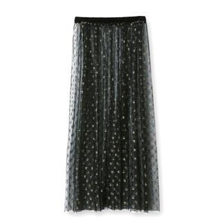 メゾンドリーファー(Maison de Reefur)のメゾンドリーファー  スター ゴールド スカート シースルー (ロングスカート)