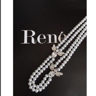 ルネ(René)のRene ルネ スワロフスキー パール ビジュー ネックレス 蜂 新品 未使用(ネックレス)