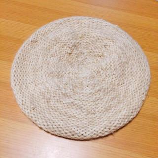 アースミュージックアンドエコロジー(earth music & ecology)のパール付き ニットベレー帽(ハンチング/ベレー帽)