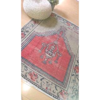 50's 手織り キリム ヴィンテージラグ ペルシャ絨毯 トルコ(ファブリック)