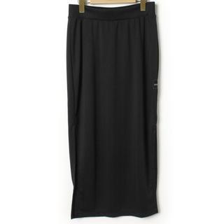 アディダス(adidas)のadidasアディダス☆ロングスカート黒(ロングスカート)