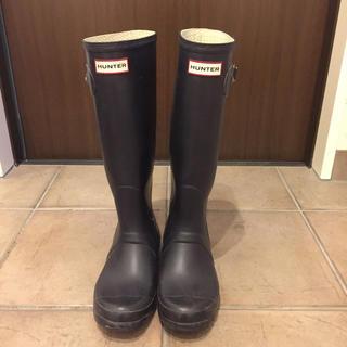 ハンター(HUNTER)のHUNTER ロングブーツ パープル(レインブーツ/長靴)