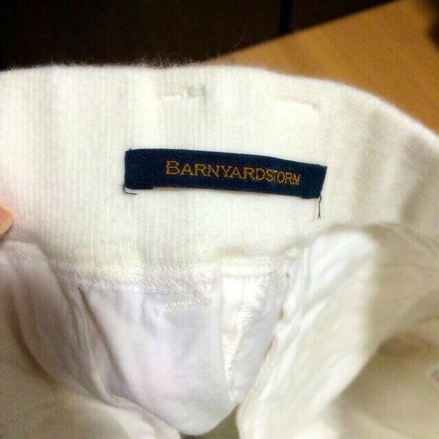 BARNYARDSTORM(バンヤードストーム)のバンヤードストーム☆ホワイトパンツ レディースのパンツ(クロップドパンツ)の商品写真