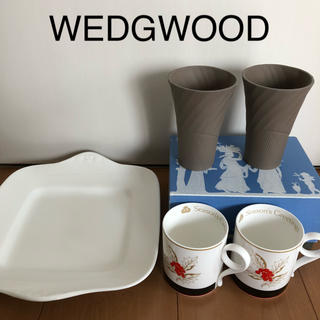 ウッドウッド(WOOD WOOD)の【 未使用 】 ウェッジウッド  マグカップ ビアマグ スクエアプレート (食器)