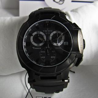ティソ(TISSOT)の新品タグ付きTISSOT T-RACE BLACK CHRONOGRAPH(腕時計(アナログ))
