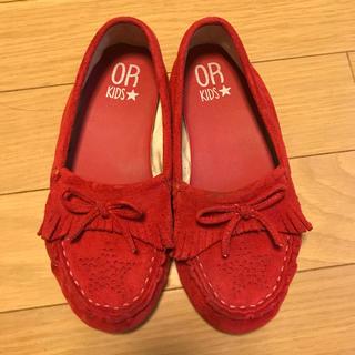 キッズ 靴 モカシン 18センチ(ローファー)