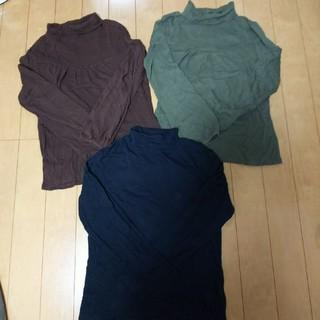 ジーユー(GU)のGU トップス 3枚 XL(Tシャツ(長袖/七分))