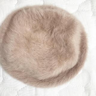 ロキエ(Lochie)のファー ベレー帽 ベージュ(ハンチング/ベレー帽)