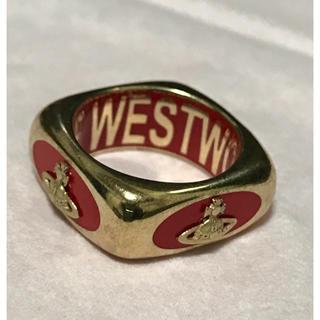 ヴィヴィアンウエストウッド(Vivienne Westwood)のヴィヴィアン ウエストウッド エナメルリング レッド(リング(指輪))
