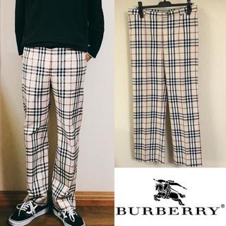 バーバリー(BURBERRY)の90's BURBERRY バーバリー ノバチェック柄 パンツ ②(スラックス)