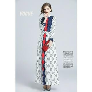 GG! 雑誌VOUGE掲載!!Aライン エレガントなワンピース  ドレス
