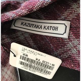 カズタカカトウ(KAZUTAKA KATOH)のネクタイ  KAZUTAKA KATOH メンズ(ネクタイ)