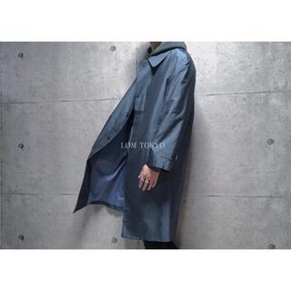 [used]silk KIMONO mix coat.(ステンカラーコート)