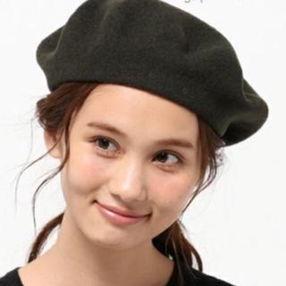 マーガレットハウエル(MARGARET HOWELL)のMHL. ベレー帽 カーキ(ハンチング/ベレー帽)
