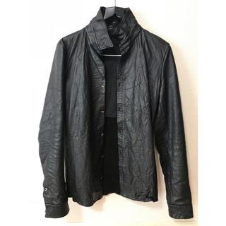 ジュンハシモト(junhashimoto)の超美品 アタックザマインド7 レザーシャツ ジャケット サイズ 1(レザージャケット)