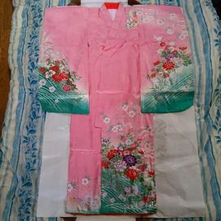 七五三 正絹 七歳 着物 はこせこセット(和服/着物)