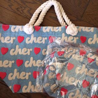 シェル(Cher)の新品♡cherエコバッグ&ポーチセット(トートバッグ)