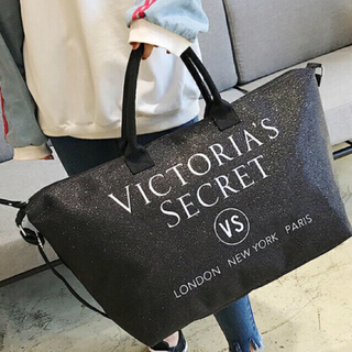 ヴィクトリアズシークレット(Victoria's Secret)のVICTORIA'S SECRET ビクシー トートバッグ ブラック(ボストンバッグ)