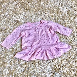 プティマイン(petit main)のハート柄 ドット 長袖 Tシャツ(その他)