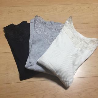 イッカ(ikka)のカットソー3セット(カットソー(長袖/七分))