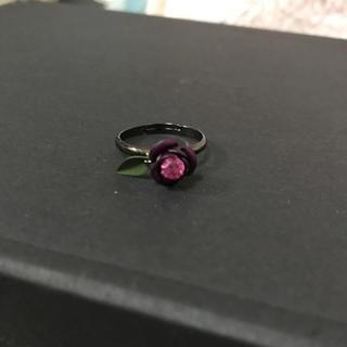 紫 ローズ リング(リング(指輪))