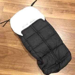 エアバギー(AIRBUGGY)の美品 ベビーカー用ダウンフットマフ ブラック(ベビーカー用アクセサリー)