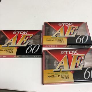 ティーディーケイ(TDK)のTDK カセットテープ 新品 3個セット(その他)