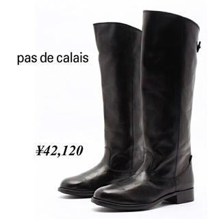 パドカレ(pas de calais)のパドカレの高級牛革のロングブーツ◆42,120円◆Mサイズ(ブーツ)