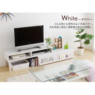 おしゃれ コーナーテレビ台 ローボード ホワイト(ローテーブル)