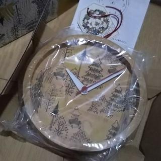 スタディオクリップ(STUDIO CLIP)の新品☆スナフキン ウッド時計(掛時計/柱時計)