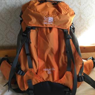 カリマー(karrimor)の美品 カリマー リッジ30 SL タイプ2. オレンジ(登山用品)